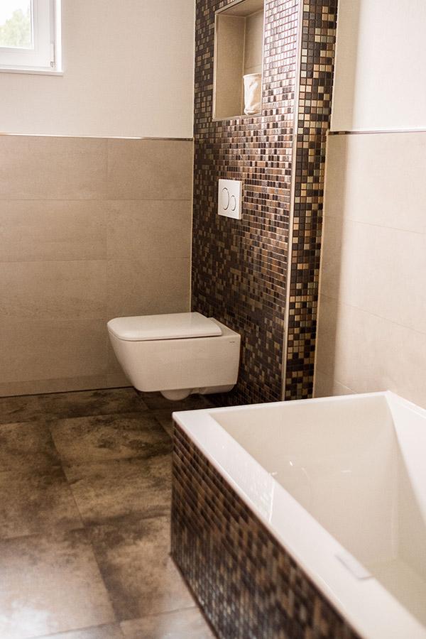 Mosaik-Fliesen im Badezimmer